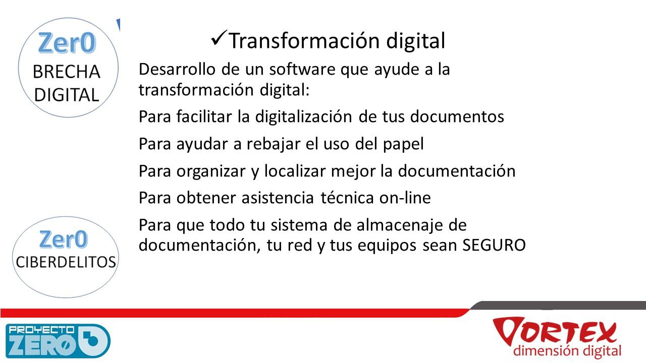 Transformación digital Proyecto Zer0
